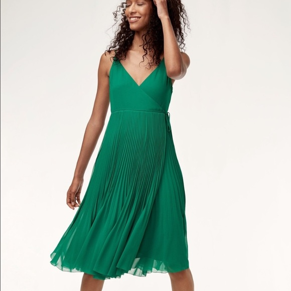 Aritzia Green Beaune Dress